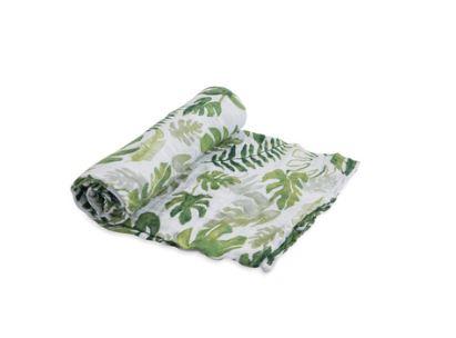 Little Unicorn Cotton Muslin Swaddle Tropical Leaf