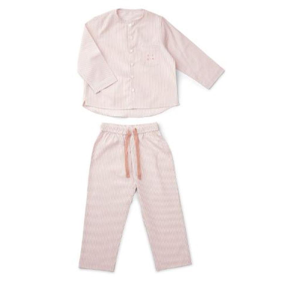 Olly Pyjamas Set ,Stripes rose and white