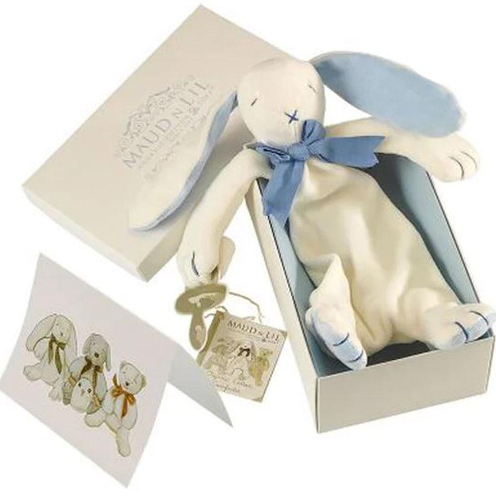 Oscar The Bunny Organic Comforter, White/Blue
