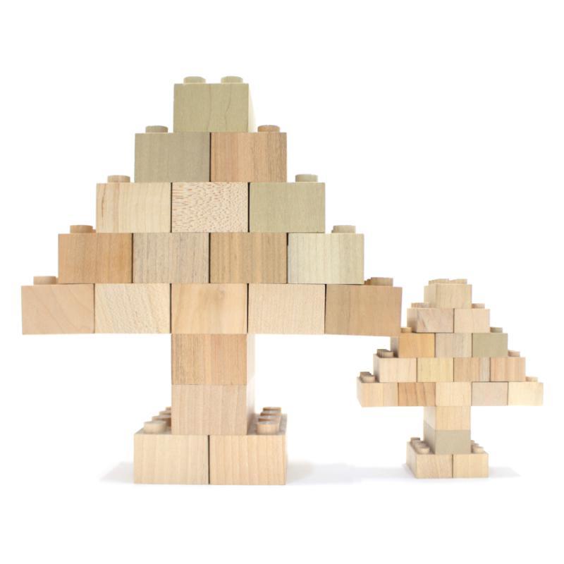 Mokulock Large Wooden Bricks (28 pieces)
