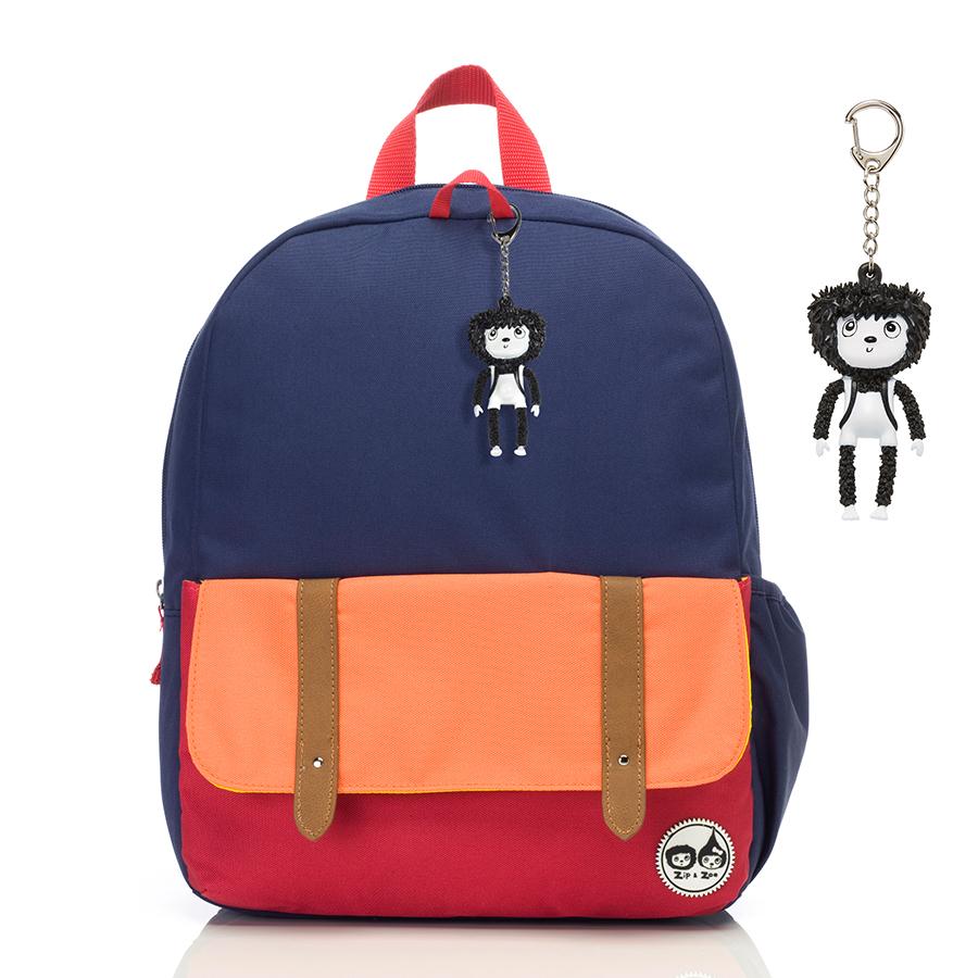 Zip and Zoe Junior Kid's Backpack (4-9Y) Navy Colour Block