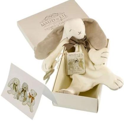 Ears The Bunny Organic Comforter, White/Grey