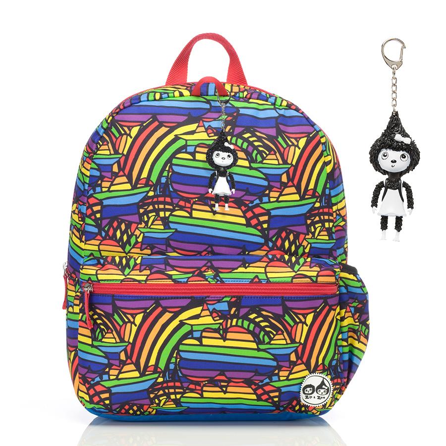 Zip and Zoe Junior Kid's Backpack (4-9Y) Rainbow Multi
