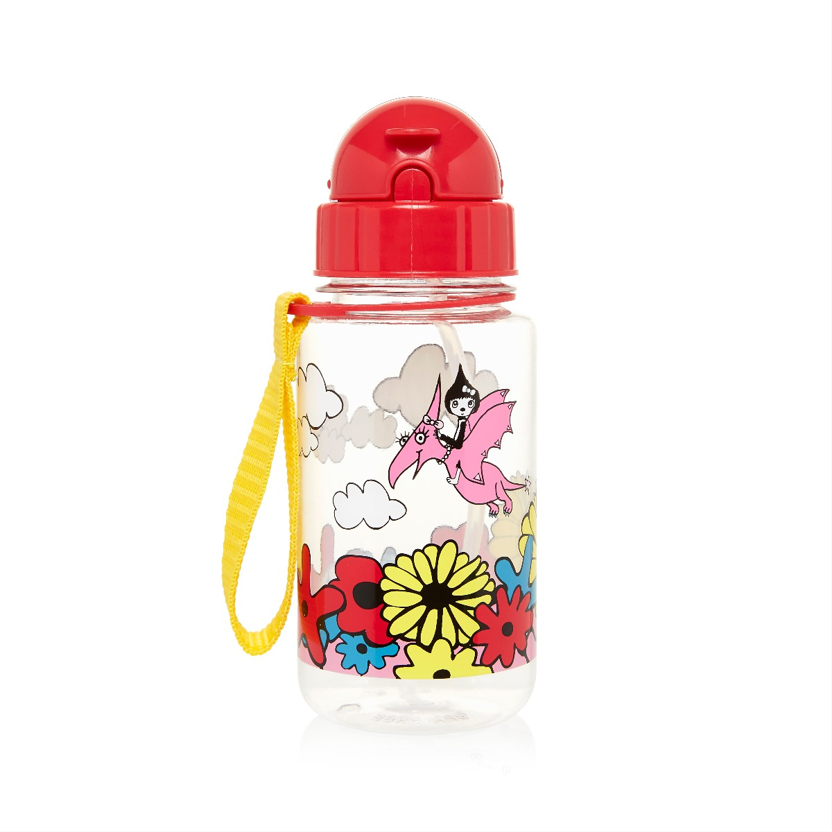 Zip and Zoe Drinking Bottle with Straw Floral Brights