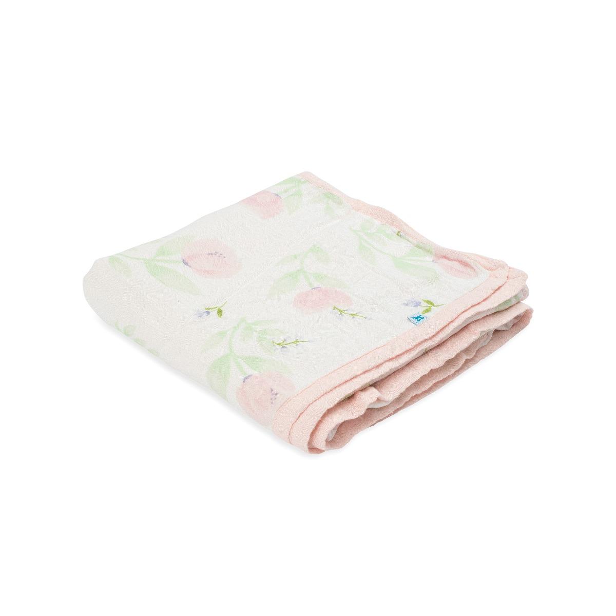 Little Unicorn Deluxe Muslin Quilt Pink Peony