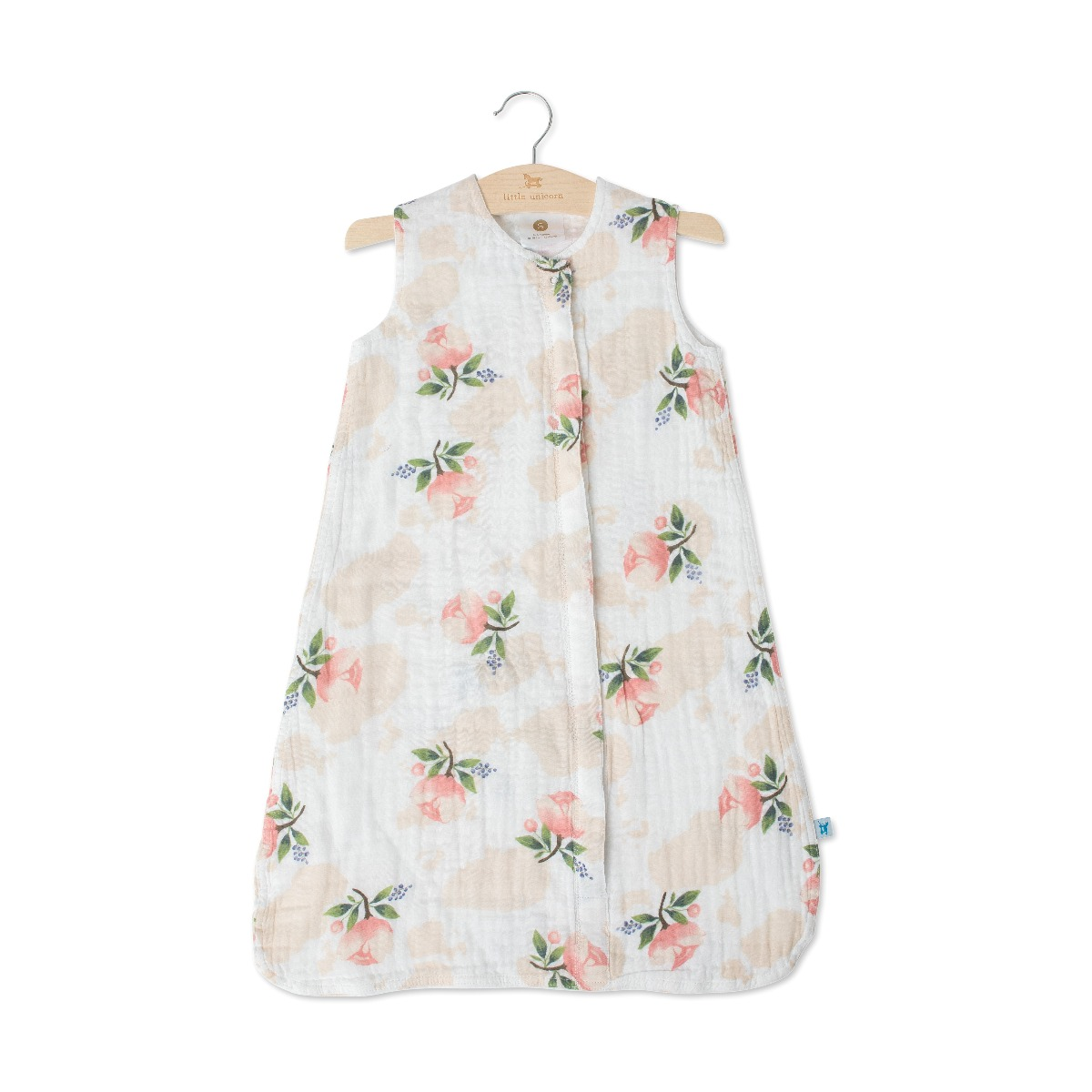 Little Unicorn Cotton Muslin Sleep Bag Small Water Color Rose