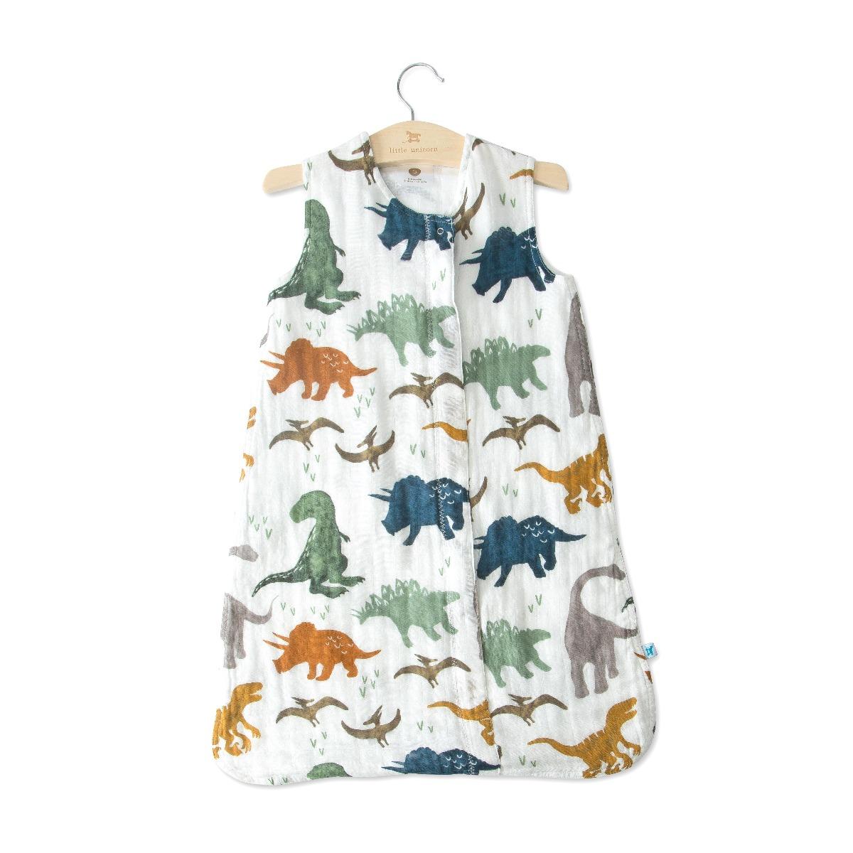 Little Unicorn Cotton Muslin Sleep Bag Small Dino Friends