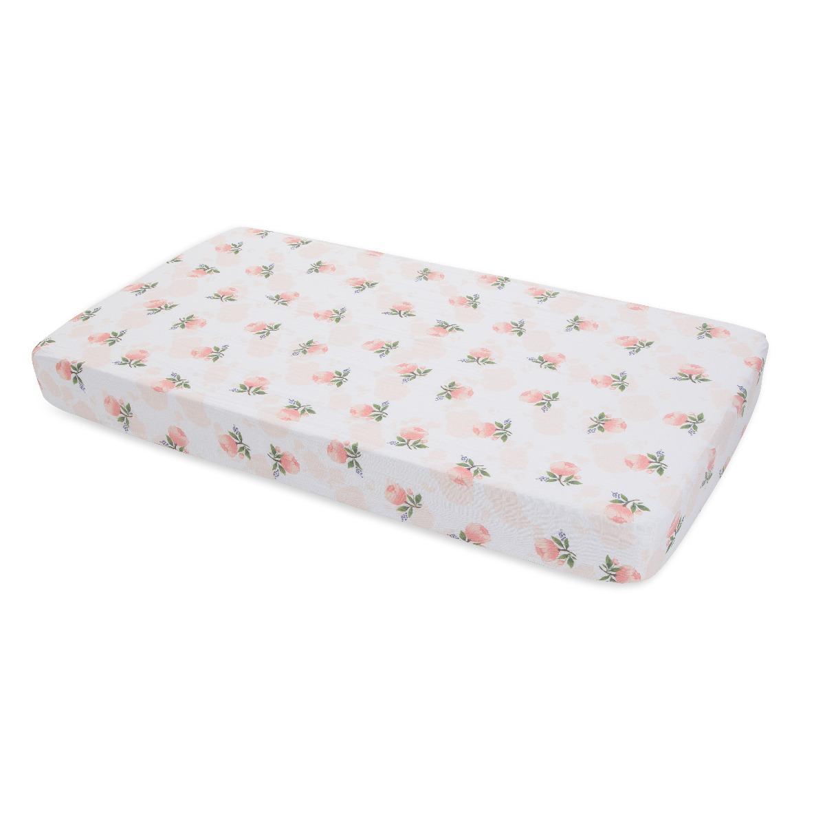 Little Unicorn Cotton Muslin Crib Sheet Water Color Rose