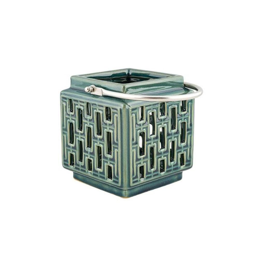 Tara Ceramic Lantern-Blue