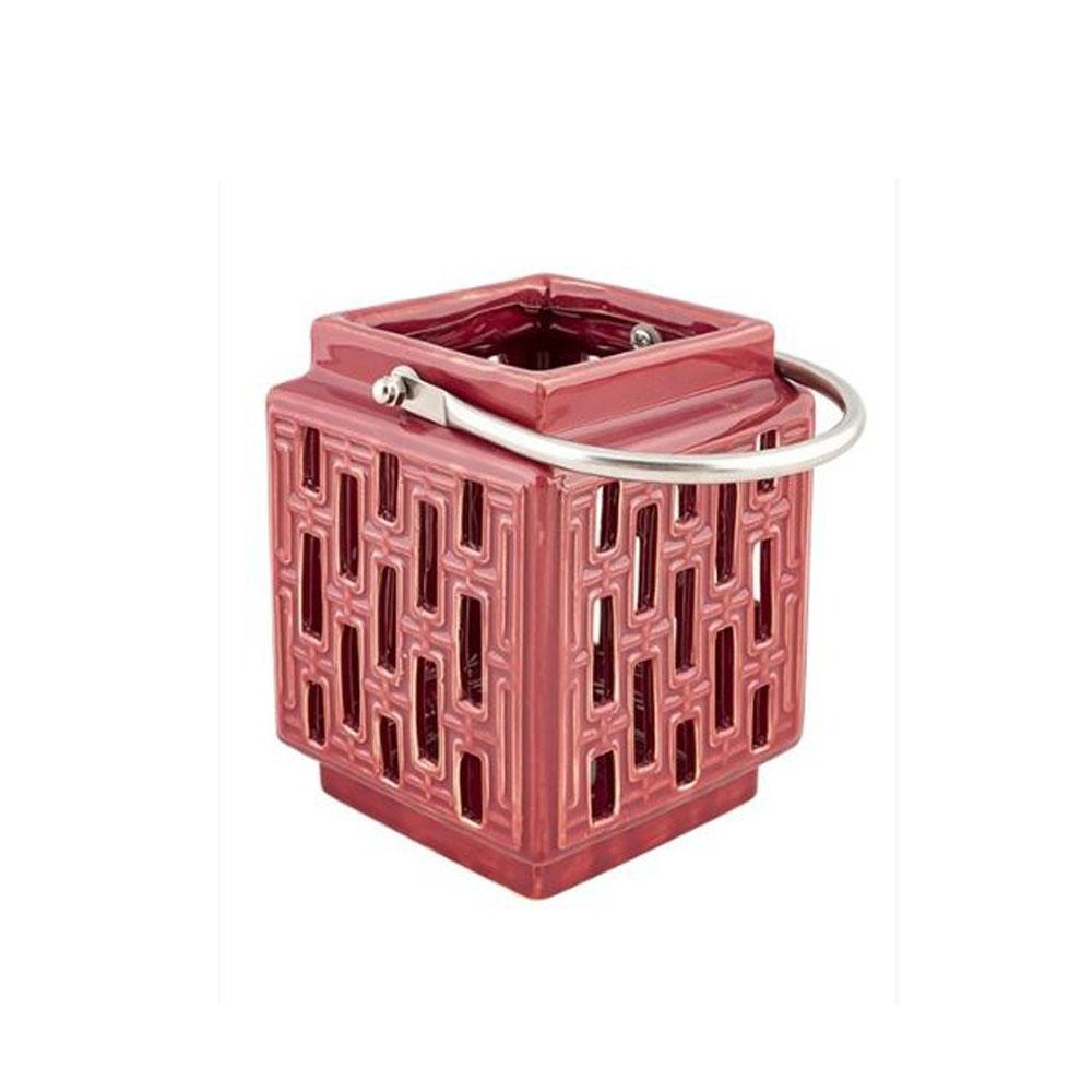 Fiona Ceramic Lantern-Red